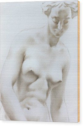 Wood Print featuring the painting Venus1c by Valeriy Mavlo