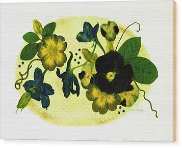 Veranda Wood Print by Kathie McCurdy