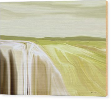 Verdant Cliffs Wood Print by Tim Stringer