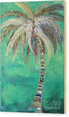 Verdant Palm Wood Print