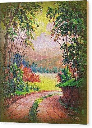 Verde Que Te Quero Verde Wood Print by Leomariano artist BRASIL