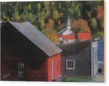 Vermont Again Wood Print