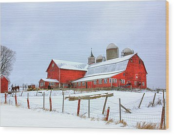 Vermont Barn Wood Print by Sharon Batdorf