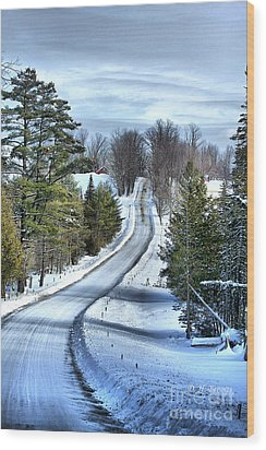 Vermont Country Landscape Wood Print by Deborah Benoit