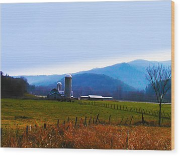 Vermont Farm Wood Print by Bill Cannon