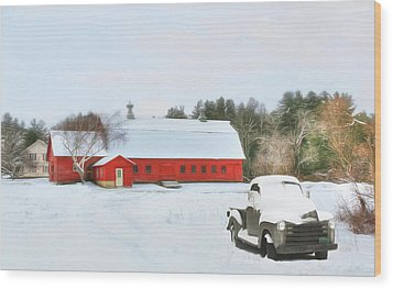 Wood Print featuring the digital art Vermont Memories by Sharon Batdorf