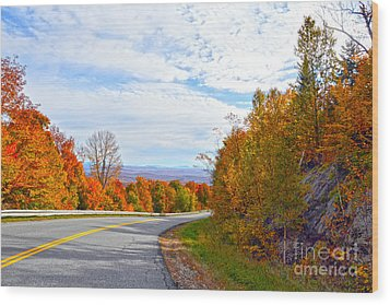 Vermont Mountain Road Wood Print by Catherine Sherman