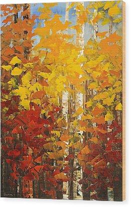 Vermont Palette Wood Print by Tatiana Iliina