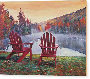 Vermont Romance Wood Print by David Lloyd Glover