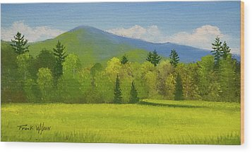 Wood Print featuring the painting Vermont Spring by Frank Wilson