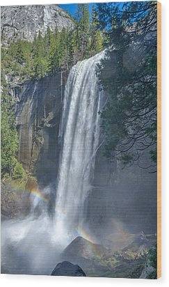 Wood Print featuring the photograph Vernal Fall Yosemite National Park by Scott McGuire