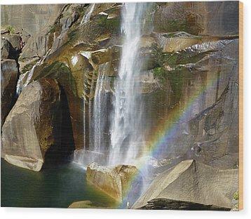 Vernal Falls Mist Trail Wood Print