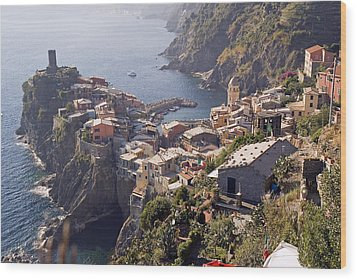 Vernazza And The Cinque Terre Wood Print