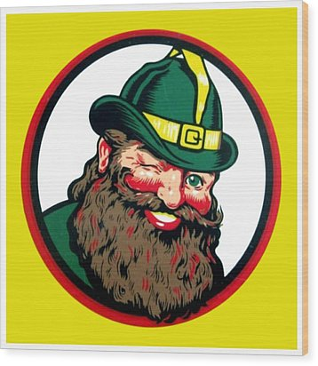 Vernors Ginger Ale - The Vernors Gnome Wood Print