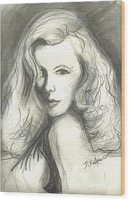 Veronica Lake Wood Print