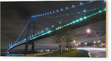 Verrazano-narrows Bridge Wood Print by Svetlana Sewell