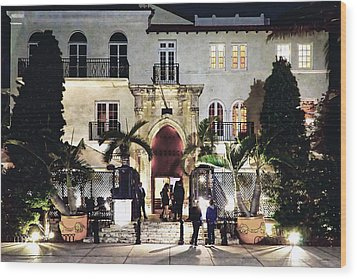 Wood Print featuring the photograph Versace Mansion South Beach by Gary Dean Mercer Clark