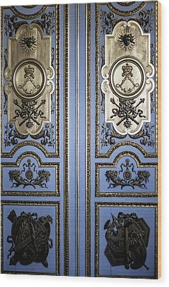 Versailles Door Wood Print by Georgia Fowler