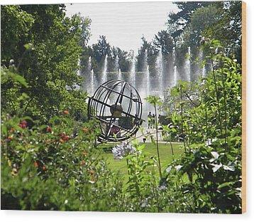 Wood Print featuring the photograph Versailles Garden by Manuela Constantin