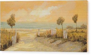 Verso La Spiaggia Wood Print by Guido Borelli