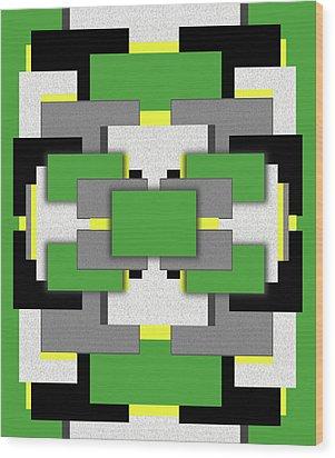 Vert Moderne Wood Print by Tara Hutton