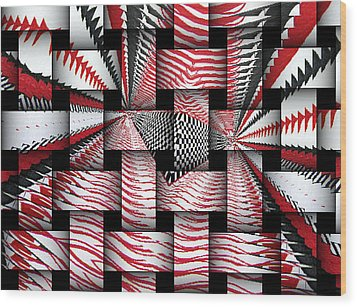 Wood Print featuring the digital art Vertical Illusion 3 by Barbara Giordano