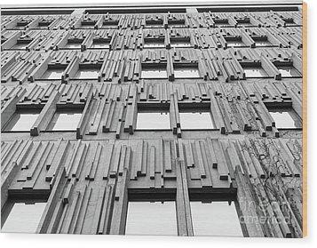 Vertical Lines Wood Print
