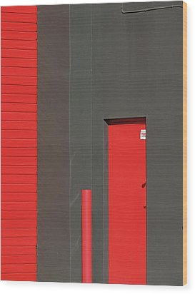 Vertical Red Wood Print