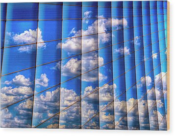 Vertical Sky Wood Print by Paul Wear