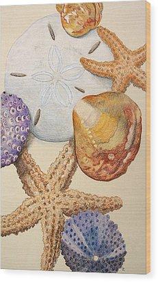 Vertical Starfish Wood Print