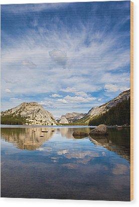Vertical Version Of Lake Tenaya Wood Print by Mimi Ditchie Photography