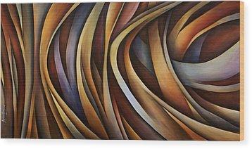 Verticle Design Wood Print by Michael Lang