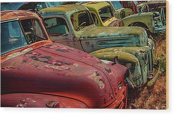 Very Late Models Wood Print by Jeffrey Jensen