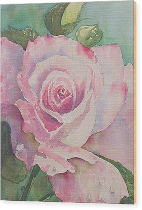 Very Rose  Wood Print by Kathy  Karas