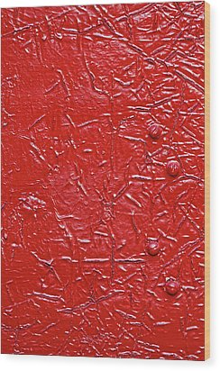 Very Very Red Wood Print by Robert Ullmann
