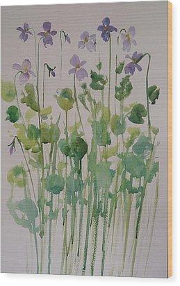 Very Violet Wood Print by Kathy  Karas