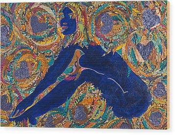 Vesica  Pisces Wood Print by Apanaki Temitayo M