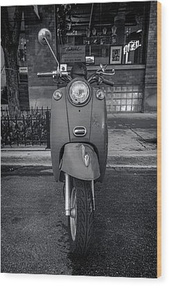 Wood Print featuring the photograph Vespa by Sebastian Musial