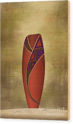 Vessel In Red Wood Print