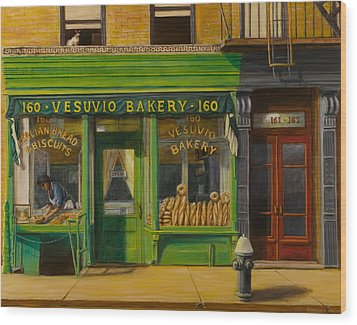 Vesuvio Bakery In New York City Wood Print by Christopher Oakley