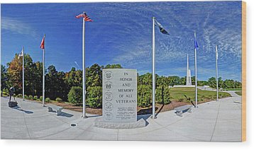 Veterans Freedom Park, Cary Nc. Wood Print by George Randy Bass
