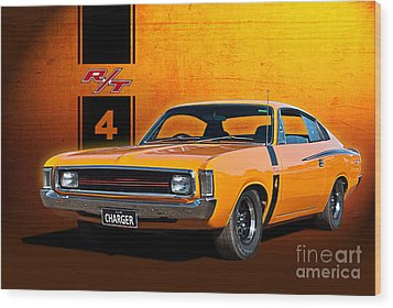 Vh Valiant Charger Wood Print