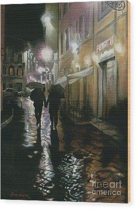 Via Della Spada - Firenze, Italia Wood Print by Kelly Borsheim