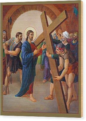 Via Dolorosa - Jesus Takes Up His Cross - 2 Wood Print