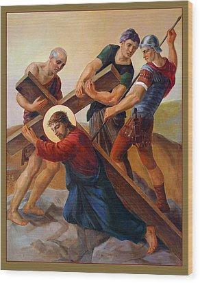 Via Dolorosa - Stations Of The Cross - 3 Wood Print