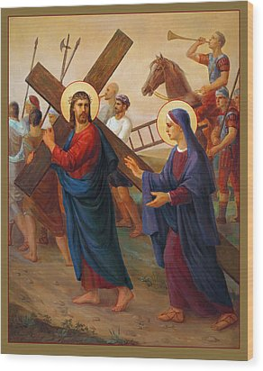 Via Dolorosa - The Way Of The Cross - 4 Wood Print by Svitozar Nenyuk