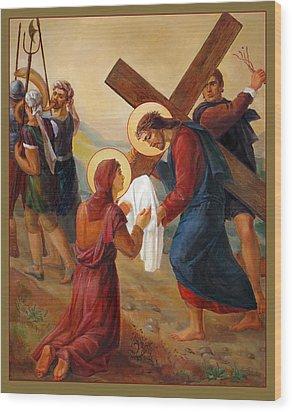 Via Dolorosa - Veil Of Saint Veronica - 6 Wood Print by Svitozar Nenyuk