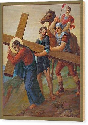 Via Dolorosa - Way Of The Cross - 5 Wood Print