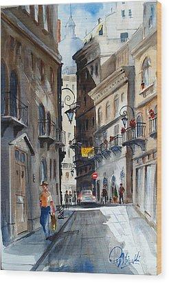 via Giardinetti  Wood Print