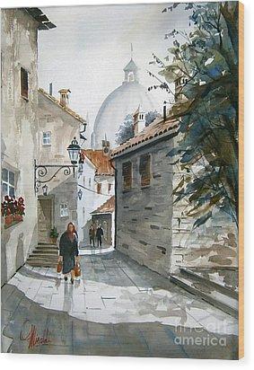 Via Coronari Wood Print